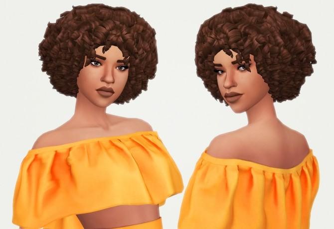 Sims 4 Britt hair at KotCatMeow
