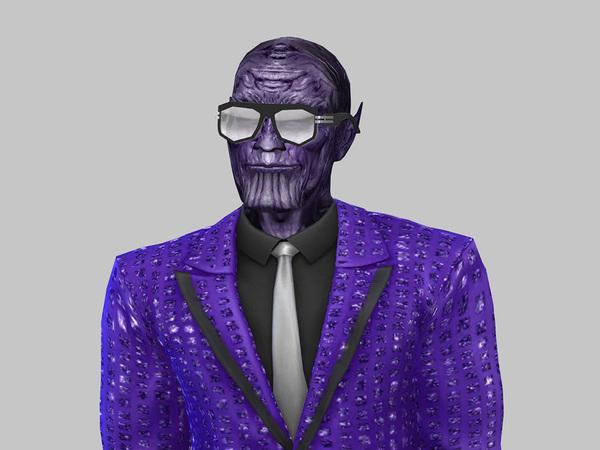 Sims 4 Thanos skintone by yugoza at TSR