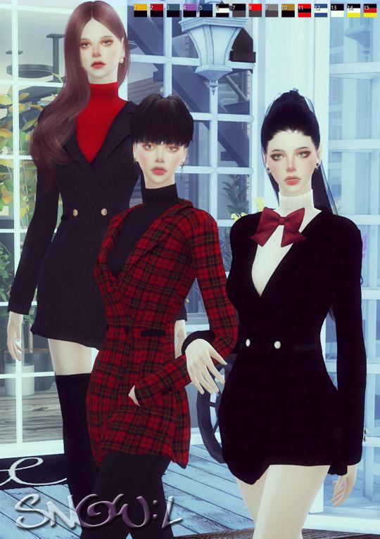 Sims 4 FB high neck jacket at SNOW:L