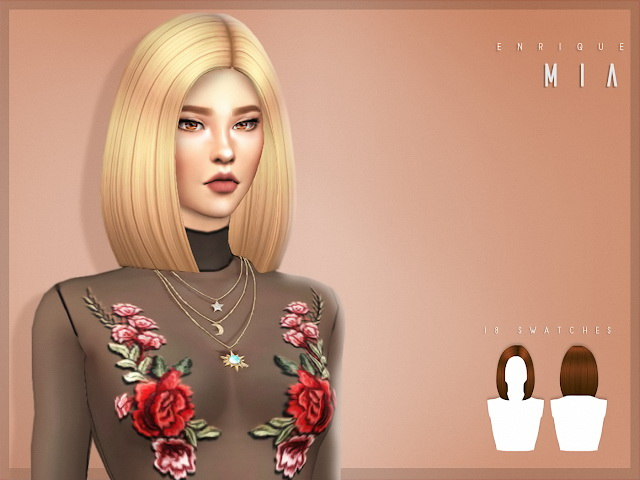 Sims 4 Mia hair at Enriques4