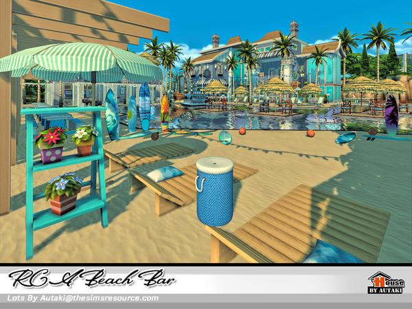 Sims 4 RCA Beach Bar by autaki at TSR