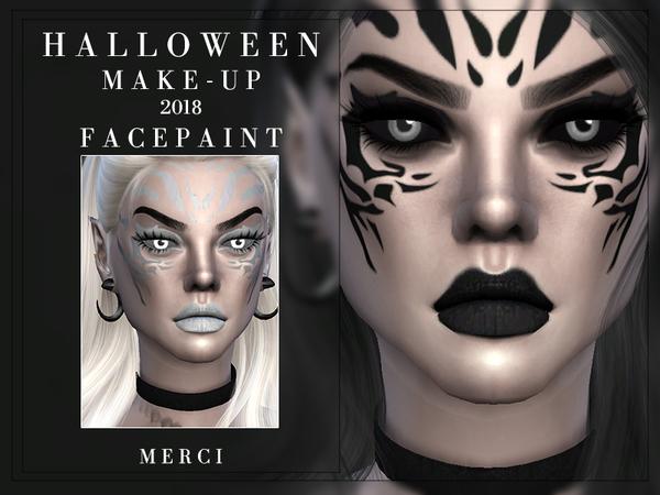 Sims 4 Facepaint Halloween 2018 by Merci at TSR