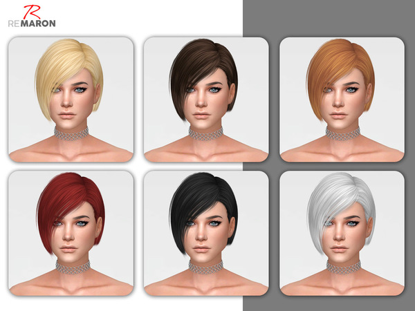 Sims 4 Danger Hair Retexture by remaron at TSR