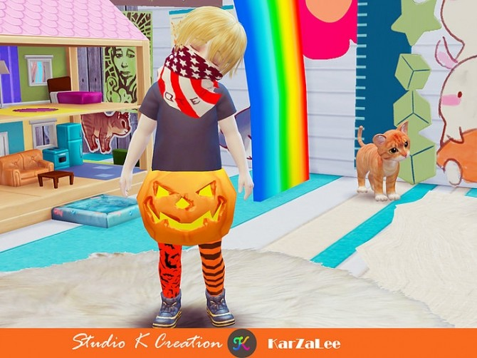 Pumpkin acc for toddler at Studio K Creation image 13411 670x502 Sims 4 Updates