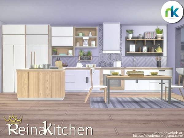 Sims 4 Reina Kitchen by nikadema at TSR