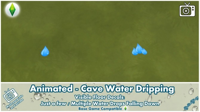 Sims 4 Animated Cave Water Dripping by Bakie at Mod The Sims