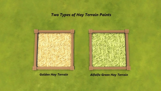 Farm and Orchard III Gold and Alfalfa Green Hay, Terrain Paints by Snowhaze at Mod The Sims image 1371 670x377 Sims 4 Updates