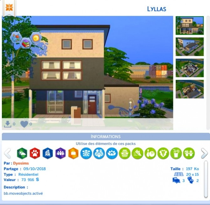 Lyllas house by Dyo at Sims 4 Fr image 1382 670x656 Sims 4 Updates