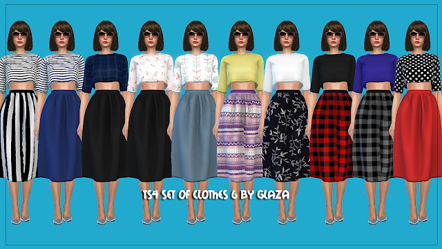 Sims 4 SET OF CLOTHES 6 at All by Glaza