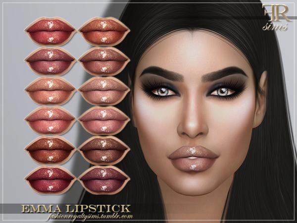 Sims 4 FRS Emma Lipstick by FashionRoyaltySims at TSR