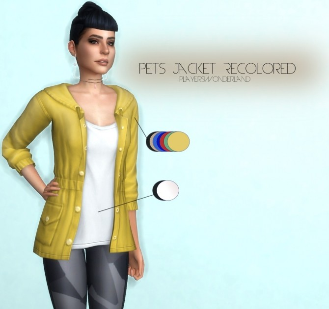 Pets Jacket Recolored at PW's Creations image 140 670x630 Sims 4 Updates