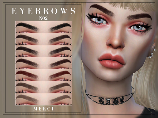 Eyebrows N02 by Merci at TSR image 1412 Sims 4 Updates