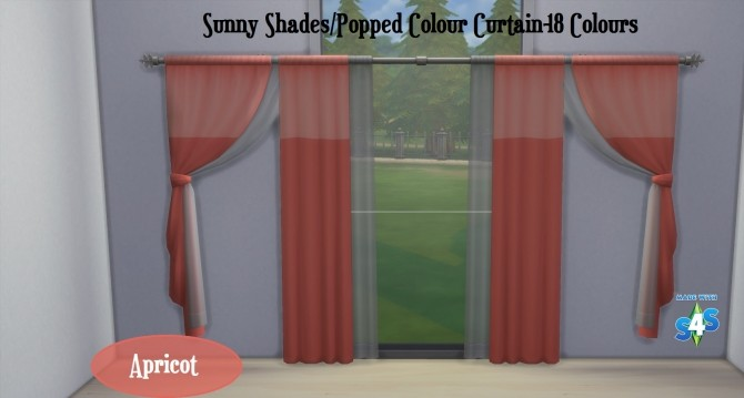 Curtain SET Popped Colour and Sunny Shades 17 Colours by wendy35pearly at Mod The Sims image 1413 670x359 Sims 4 Updates