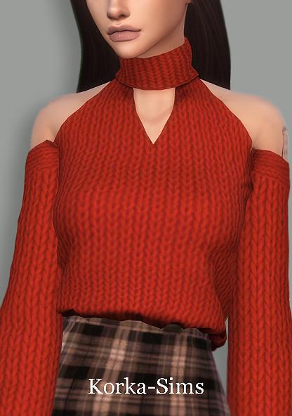 Sims 4 Ella sweater at Korka Sims