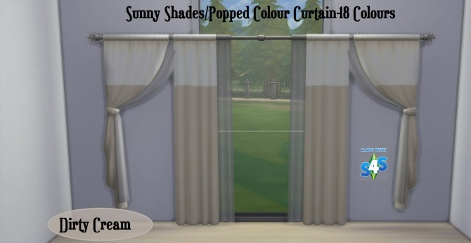 Curtain SET Popped Colour and Sunny Shades 17 Colours by wendy35pearly at Mod The Sims image 1431 670x346 Sims 4 Updates