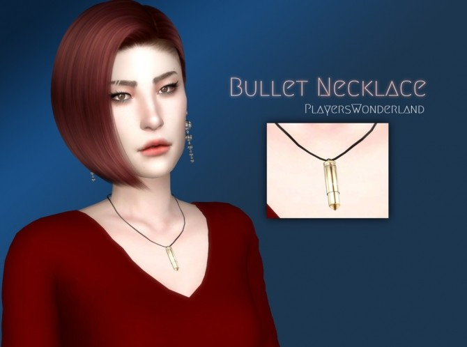 Sims 4 Bullet Necklace at PW's Creations