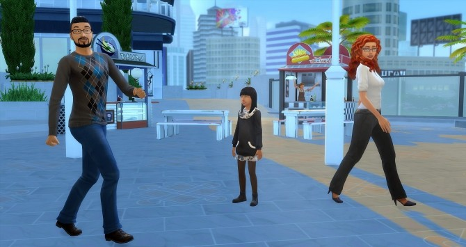 Sims 4 Lacity family by Angerouge at Studio Sims Creation