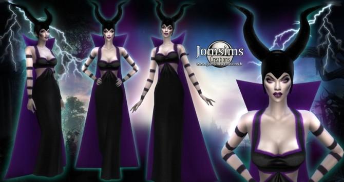 Sims 4 Sorpula set dress cape and helmet at Jomsims Creations