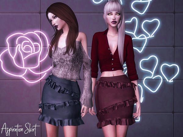 Sims 4 Aspiration Skirt by Genius666 at TSR