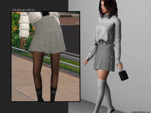 Sims 4 Chaleur skirt by cosimetics at TSR