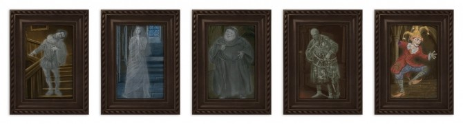 Sims 4 Hogwarts House Ghosts Paintings at SimPlistic