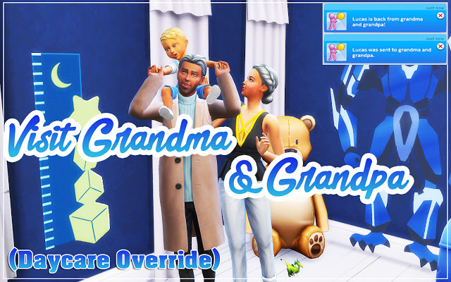Visit Grandma And Grandpa (Daycare Override) at MSQ Sims image 1542 Sims 4 Updates