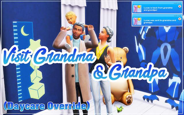 Visit Grandma And Grandpa (Daycare Override) at MSQ Sims image 1542 Sims 4 Updates