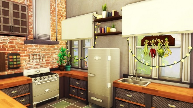 Industrial Tumblr Apartment at Aveline Sims » Sims 4 Updates