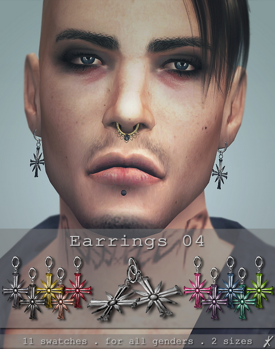 Earrings 04 & 05 at Quirky Kyimu image 1582 Sims 4 Updates