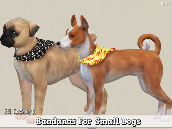 Bandanas For Small Dogs by Pinkzombiecupcakes at TSR image 1626 Sims 4 Updates