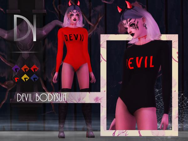 Sims 4 Devil Bodysuit by DarkNighTt at TSR