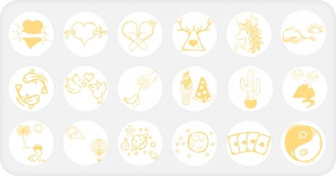 Sims 4 Doodley Tattoos Set at Nords Sims