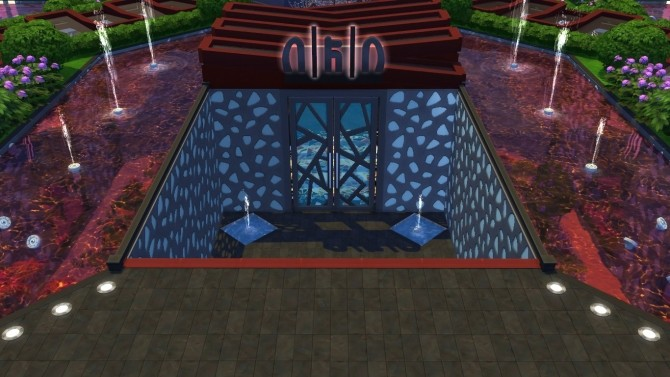 Sims 4 Insomnia Restaurant no CC by aramartir at Mod The Sims