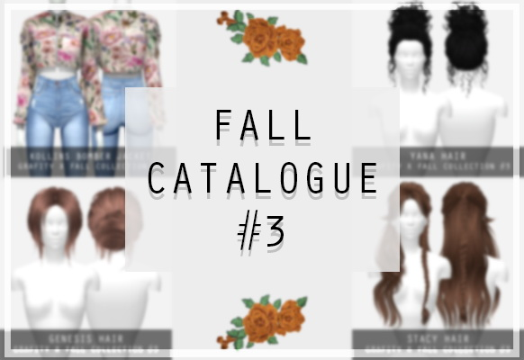 FALL COLLECTION #3 Bomber Jacket & hair recolors at Grafity cc image 1672 Sims 4 Updates