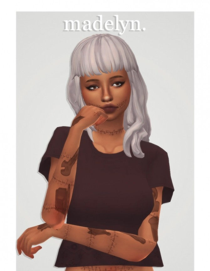 Sims 4 Naevys sims' madelyn hair recolors at cowplant pizza