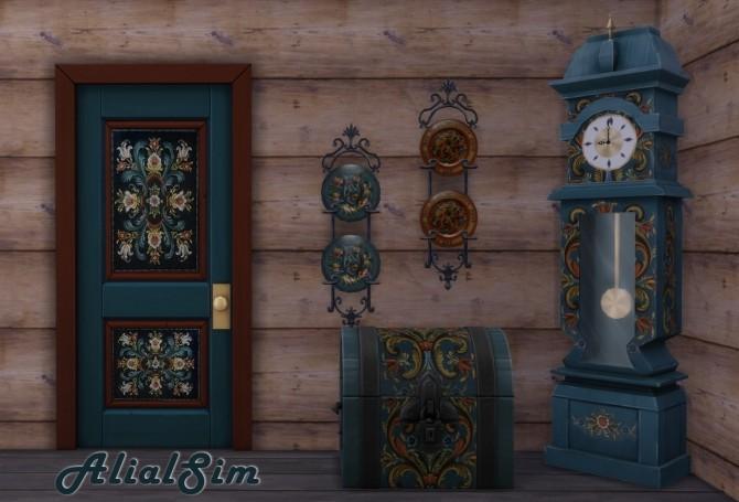 Sims 4 Norwegian Rosemaling at Alial Sim