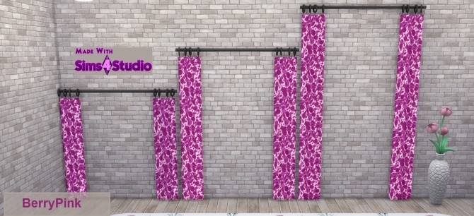 Simplistic Curtain SET Animal Skin Pattern 15 Colours by wendy35pearly at Mod The Sims image 1681 670x306 Sims 4 Updates