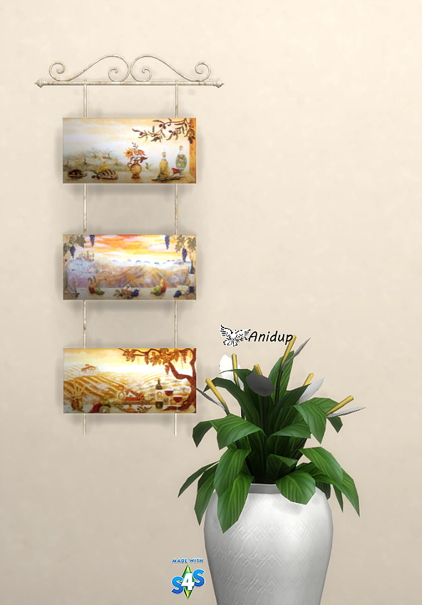 Tuscan Wall Hanging by Anidup at Blooming Rosy image 1682 Sims 4 Updates