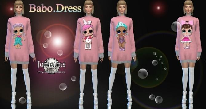 Sims 4 Babo dress at Jomsims Creations