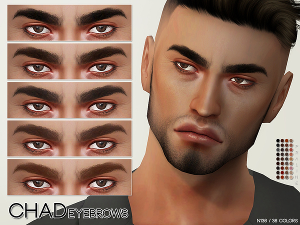 Chad Eyebrows N136 by Pralinesims at TSR image 17 Sims 4 Updates