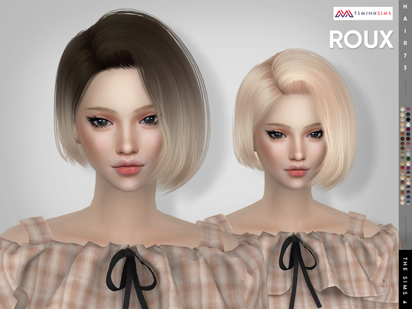 Roux Hair 73 by TsminhSims at TSR image 17114 Sims 4 Updates