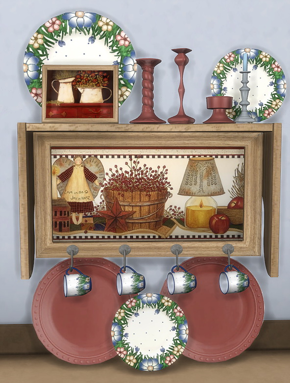 Autumn Kitchen Shelf by anidup at Blooming Rosy image 1716 Sims 4 Updates