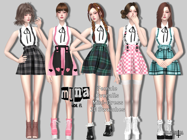 MUNA Vol2 Overalls by Helsoseira at TSR image 1725 Sims 4 Updates