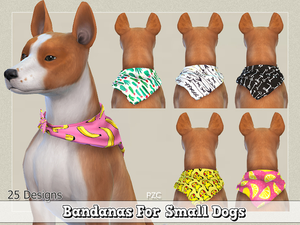 Bandanas For Small Dogs by Pinkzombiecupcakes at TSR image 1727 Sims 4 Updates