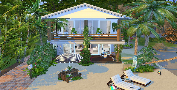 BRONTE house by Lorry at Blooming Rosy image 1742 Sims 4 Updates