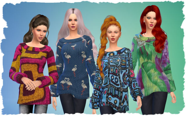 Pets Pullover by Chalipo at All 4 Sims image 1751 Sims 4 Updates