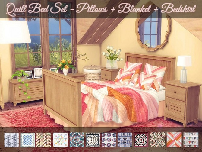Quilt Bed Set by Sooky at Blooming Rosy image 1782 670x503 Sims 4 Updates