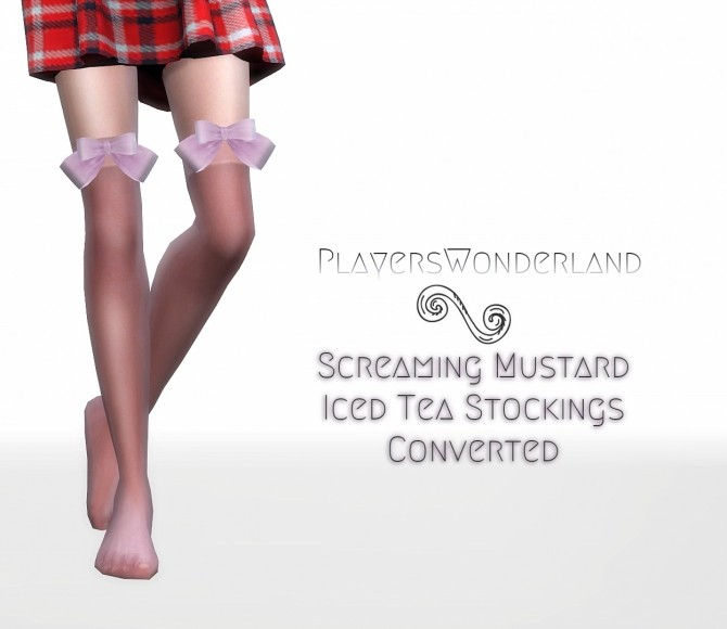 Iced Tea Stockings Converted at PW's Creations image 1784 670x580 Sims 4 Updates
