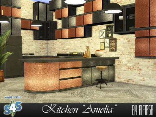 Amelia kitchen at Aifirsa image 1791 Sims 4 Updates