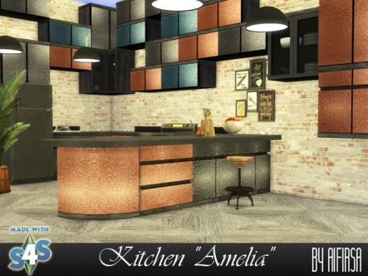 Amelia kitchen at Aifirsa image 1801 Sims 4 Updates